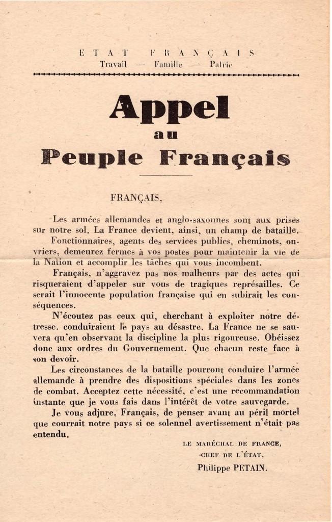 Appel au peuple français