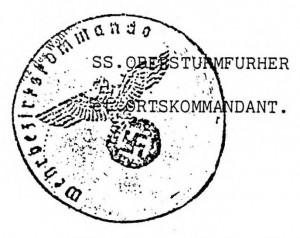Signature OrstsKommandatur